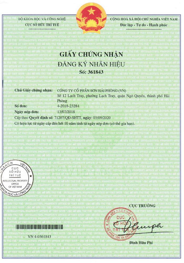 giấy chưng nhận đăng ký nhãn hiệu (nhãn hiệu thông thường)