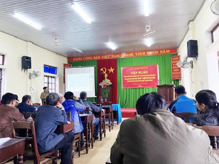Địa điểm diễn ra buổi tập huấn: Huyện Nam Đông - Tỉnh Thừa Thiên Huế